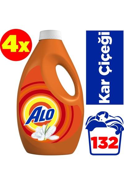 Alo Sıvı Çamaşır Deterjanı Kar Çiçeği 33 Yıkama 4'lü Paket
