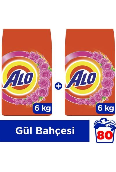 Alo 6 kg + 6 kg Toz Çamaşır Deterjanı Beyazlar ve Renkliler İçin Gül Bahçesi