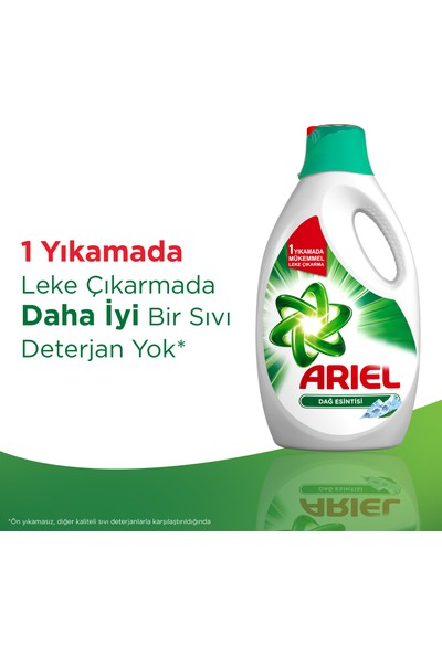 Ariel Sıvı Çamaşır Deterjanı Dağ Esintisi 33 Yıkama Beyazlar ve Renkliler İçin