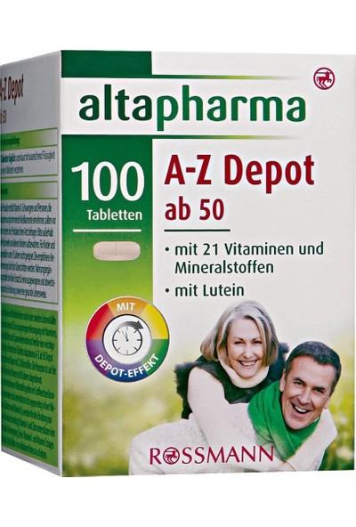 Altapharma Multivitamin Mineral 100 Tablet A Z & 50 Yaş