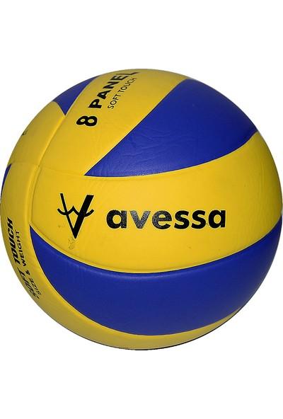 Avessa 8 Panel Yapıştırma Voleybol Topu Vl400 Sarı Lacivert