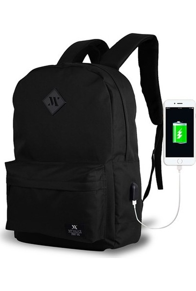 My Valice Smart Bag Specta Usb Şarj Girişli Akıllı Sırt Çantası Siyah