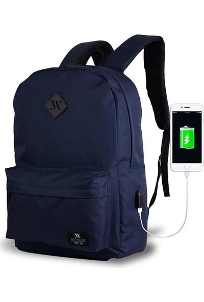 My Valice Smart Bag Specta Usb Şarj Girişli Akıllı Sırt Çantası Lacivert