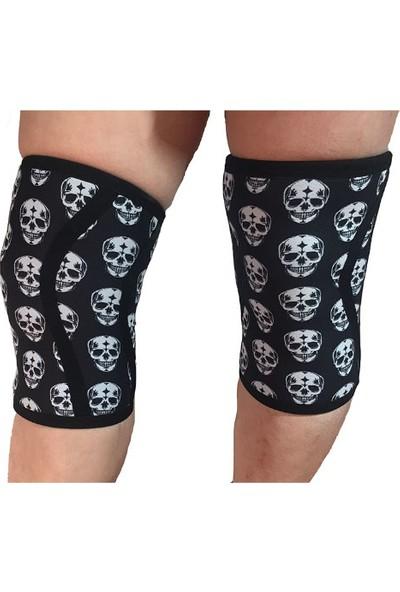 Crossfıt Dız Destegı Knee Caps Neopren Kurukafa