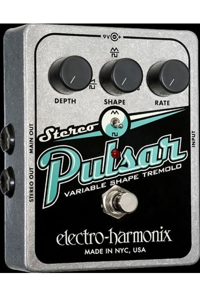 Electro-Harmonix Pulsar Variable Shape Analog Tremolo Analog Efek