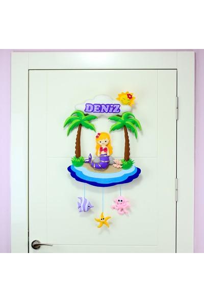 Renkli Hayallerim Deniz Kızı Bebek Kapı Süsü