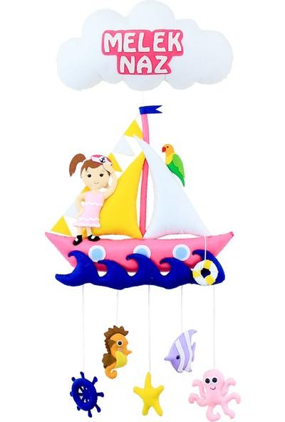Renkli Hayallerim Denizci Kız Çocuk Bebek Kapı Süsü