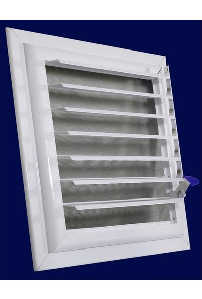 Şahin Alüminyum Menfez Banyo Ve Wc Havalandırma Panjur Yüzeysel Menfez 25X25 Beyaz