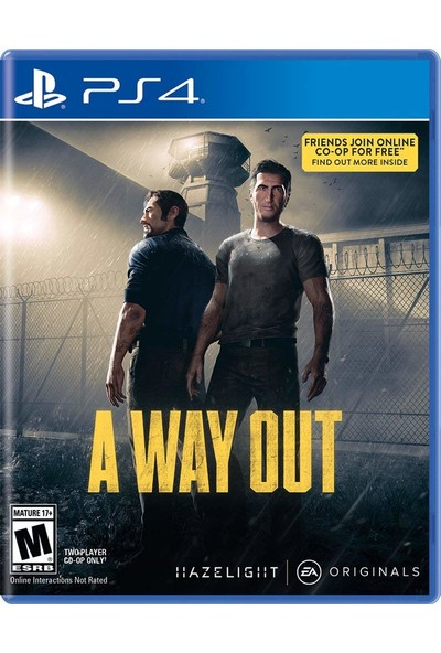A Way Out - PS4 Oyunu