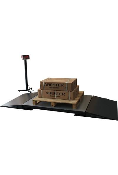 Arester 4L-R 100X120 1500 Kg Rampalı Baskül