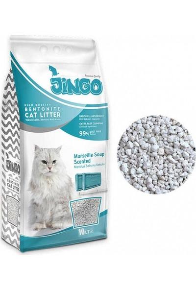 Jingo Marsilya Sabun Kokulu Bentonit Kedi Kumu Kalın Taneli 10 L