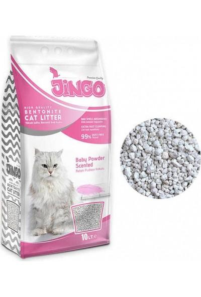 Jingo Bebek Pudra Kokulu Bentonit Kedi Kumu Kalın Taneli 10 L