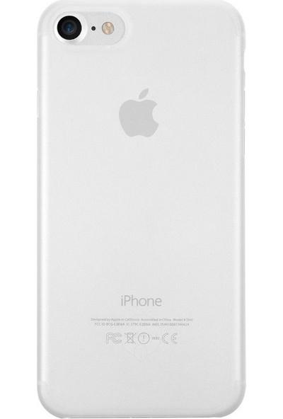 Ozaki O!coat Jelly Apple iPhone 7-8 Ultra İnce Silikon Kılıf Buzlu Beyaz