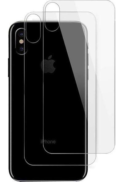 Case 4U Apple iPhone XS Max Arka Temperli Cam Ekran Koruyucu