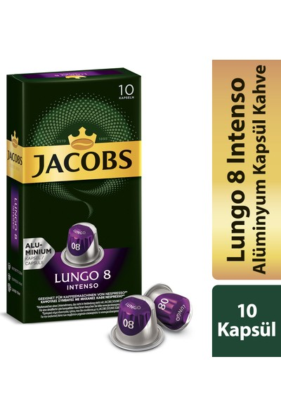 Jacobs Kapsül Kahve Lungo 10 Kapsül