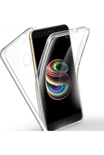 Case 4U Xiaomi Mi 2S Kılıf Ön Arka Şeffaf Silikon Koruma