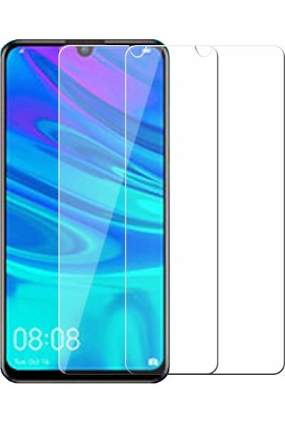 Case 4U Huawei P Smart 2019 Cam Ekran Koruyucu - Blue Nano