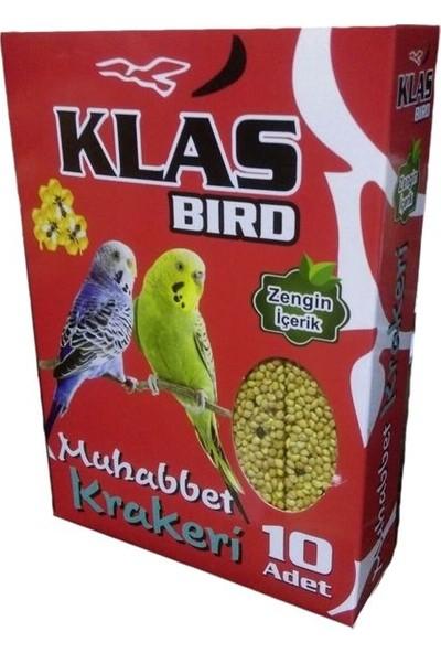 Klas Bird Muhabbet Ballı Kraker 10Lu