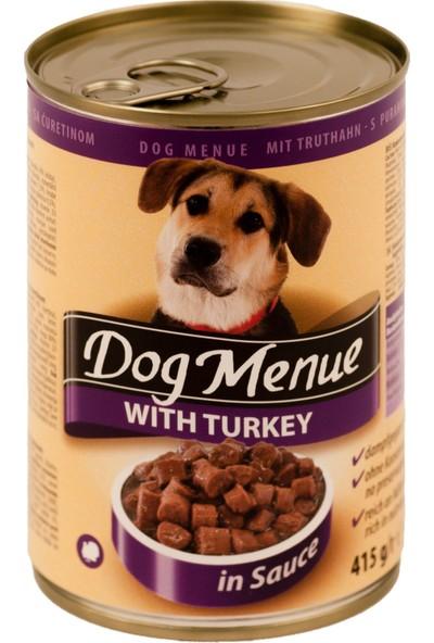 Dog menue Hindili Köpek Konservesi 415 Gr (10 Adet)