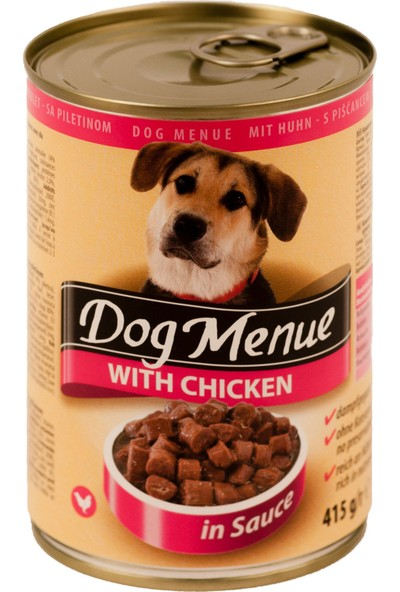 Dog menue Tavuklu Köpek Konservesi 415 Gr (20 Adet)