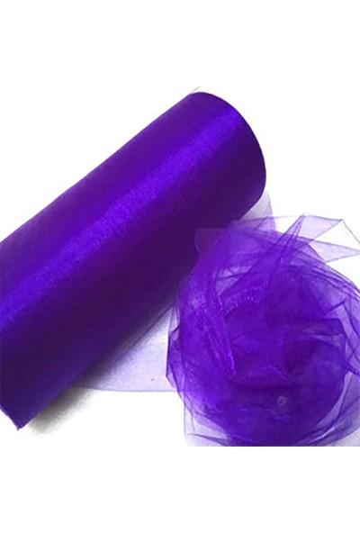 Kazanabil 5mt Tütü Tülü Kristal Tül Süsleme Malzemesi Mor