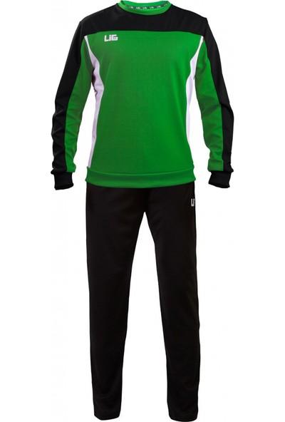 Lig Termera Antrenman Eşofmanı Siyah-Yeşil-Beyaz