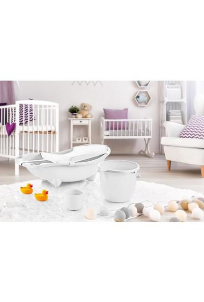 Dünya Plastik Küvet Seti Bebek Banyo Küvet Takımı 3 lü Set (File Hediyeli)