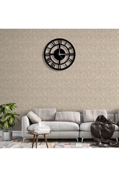 Tablo Art House Duvar Saati Ahşap Klasik Roma Rakamlı