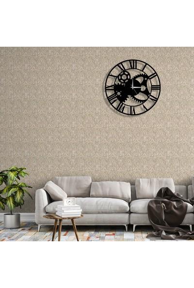 Tablo Art House Duvar Saati Metal Çarklar Roma Rakamlı