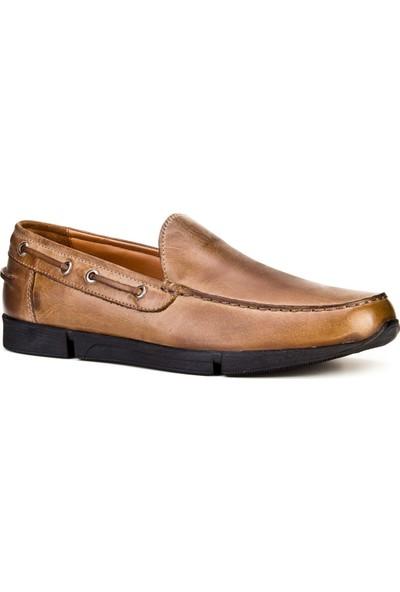 Cabani Loafer Günlük Erkek Ayakkabı Yeşil Sabunlu Deri