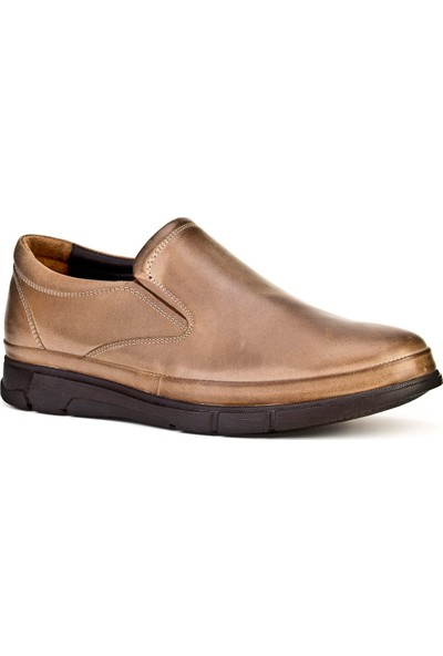 Cabani Bağcıksız Hafif Taban Günlük Erkek Ayakkabı Yeşil Sabunlu Deri