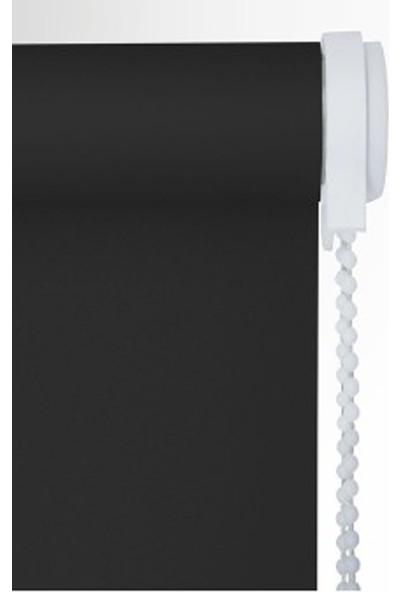 Zebraevim Siyah Polyester Stor Etek Dilimli