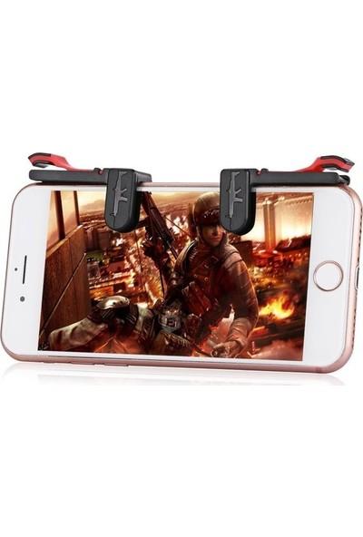 Aksesuarfırsatı Smartoyun Tüm Telefonlar İçin Çift Oyun Adaptörü PubG Ateş Düğmesi M24 Siyah