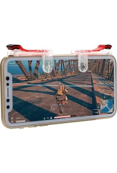 Aksesuarfırsatı Smartoyun Tüm Telefonlar İçin Çift Oyun Adaptörü PubG Ateş Düğmesi M24 Şeffaf