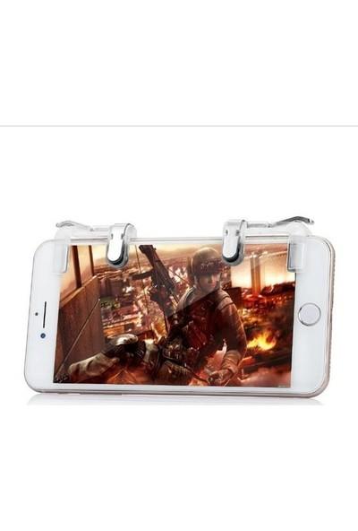 Aksesuarfırsatı Smartoyun Tüm Telefonlar İçin Çift Oyun Adaptörü PubG Ateş Düğmesi CZ2 Şeffaf Metal