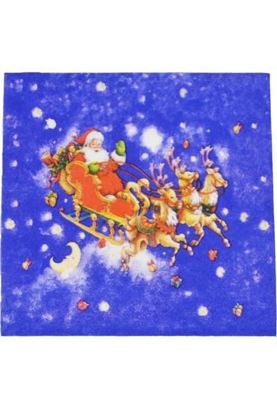 Cansüs 10lu Noel Babalı Yılbaşı Peçetesi Asorti