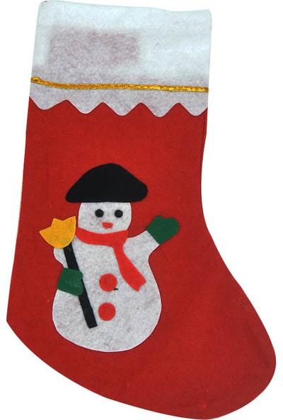 Cansüs Kardan Adamlı Yılbaşı Çorabı