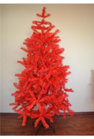 Cansüs 180 cm Yılbaşı Yapay Çam Ağacı Kırmızı