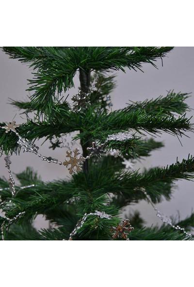 Cansüs Yılbaşı Ağacı Zincir Süsleri Gümüş