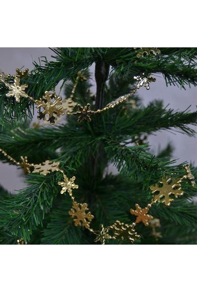 Cansüs Yılbaşı Ağacı Zincir Süsleri Gold