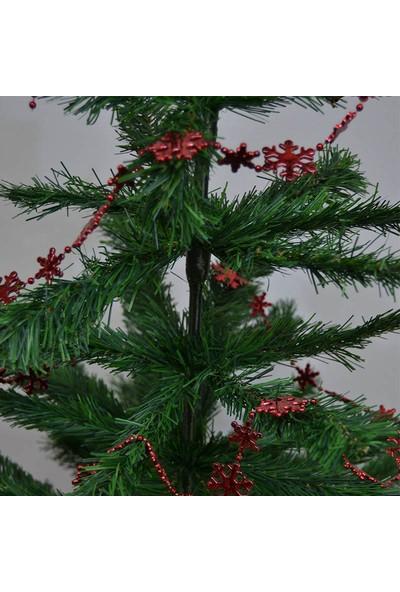Cansüs Yılbaşı Ağacı Zincir Süsleri Kırmızı