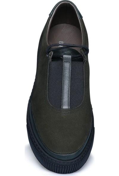 Buenza Sncr Nubuk Duz Kaucuk Taban Ayakkabı - Haki
