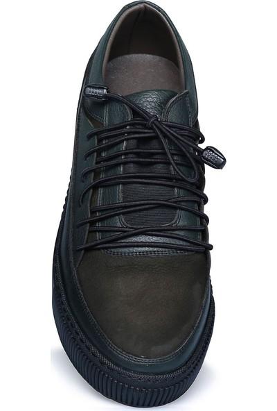 Buenza Sncr Nubuk Bagcıklı Kaucuk Taban Ayakkabı - Haki