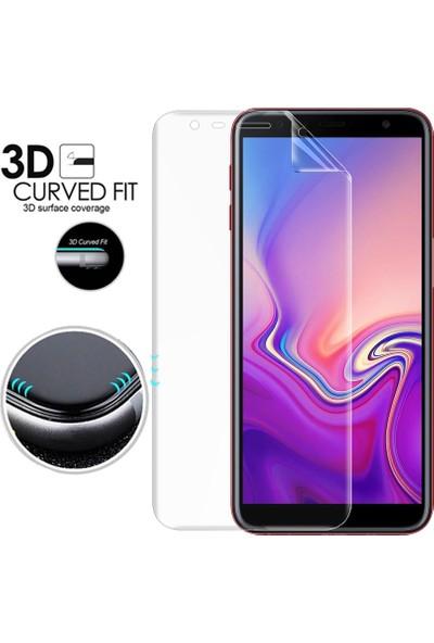 Microsonic Samsung Galaxy J4 Plus Ön + Arka Kavisler Dahil Tam Ekran Kaplayıcı Film