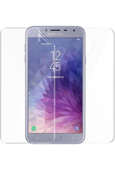 Microsonic Samsung Galaxy J4 Ön + Arka Kavisler Dahil Tam Ekran Kaplayıcı Film