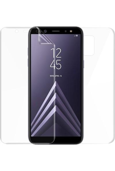 Microsonic Samsung Galaxy A6 Plus 2018 Ön + Arka Kavisler Dahil Tam Ekran Kaplayıcı Film