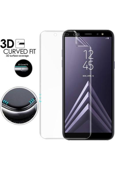 Microsonic Samsung Galaxy A6 2018 Ön + Arka Kavisler Dahil Tam Ekran Kaplayıcı Film