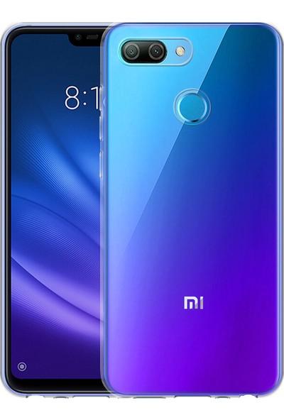 Microsonic Xiaomi Mi 8 Lite Kılıf Transparent Soft Beyaz
