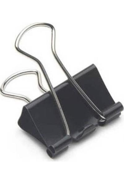 Mas 925 Omega Çelik Kıskaç 25 mm Siyah 12'li Paket