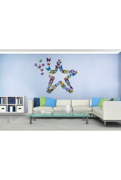 Kelebekler 57 Adet Duvar Süsü 3 Boyutlu